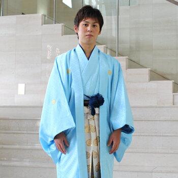 【レンタル】成人式 袴 卒業式 男 男物紋付羽織袴 レンタル14点フルセット 〔消費税込み〕