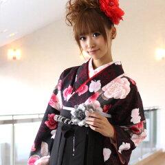卒業式・謝恩会は可愛い袴(はかま)スタイルで!二尺袖着物&袴セットのフルセットレンタルが、...