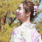 「なでしこ」日本製 浴衣 髪飾り クリップ「ぶら下がり付き古典柄髪飾り」花 ちりめん 大人 ヘアアクセサリー 浴衣用ヘアーアクセサリー 浴衣 夏祭り 花火大会 水色 ピンク 紫 赤