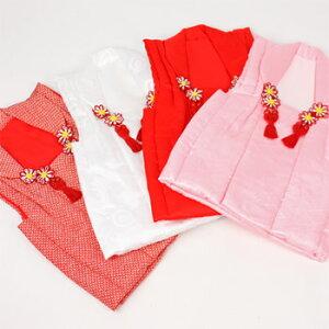 七五三着物3歳正絹被布コート((白)流水と桜)七五三の着物にぴったり♪