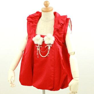 Balloon 被布 coat 753 ringtone of 3-year-old 被布 3-year-old for 3 years for 祝着 celebration ringtone 753 kimono 3-year-old for kids children's kimono dolls Hinamatsuri Hina dolls Red