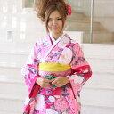 【レンタル】 振袖 レンタル 20点フルセット「ピンク ローズ 牡丹 ...