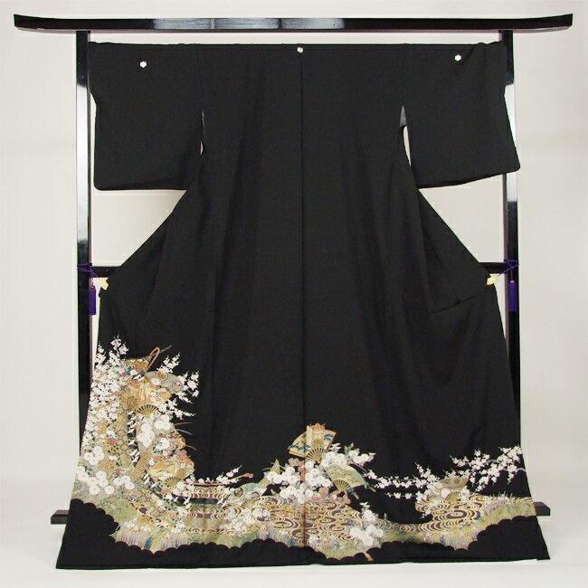 【レンタル】 黒留袖 レンタル 着物 黒留 ゆとりサイズ 3L〜4LL対応 黒留袖 19点フルコーディネートセット 結婚式〔消費税込み〕