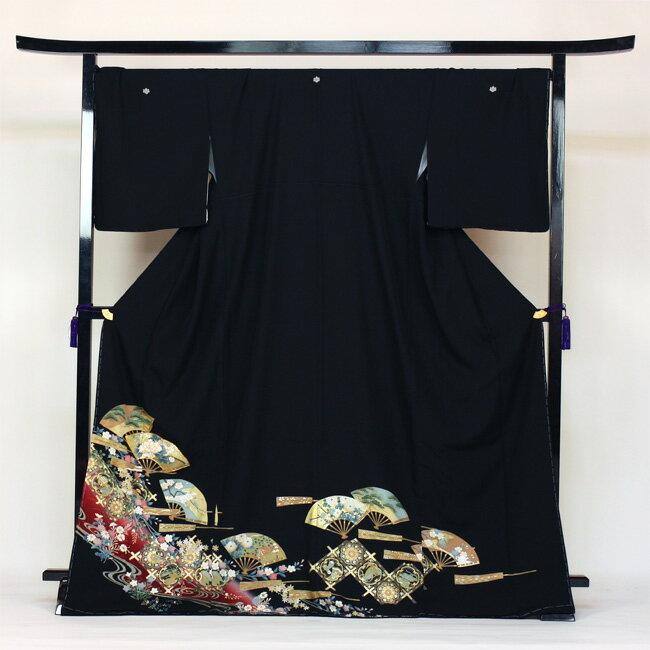 【レンタル】 留袖 レンタル 往復送料無料 着物 黒留 ゆとりサイズ 3L〜4LL対応 黒留袖 19点フルコーディネートセット 結婚式 rental とめそで kimono きもの〔消費税込み〕