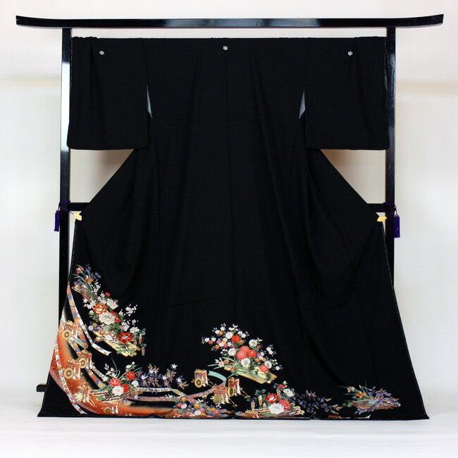 【レンタル】 留袖 レンタル 往復送料無料 着物 黒留 ゆとりサイズ 3L〜4LL対応 黒留袖 19点フルコーディネートセット 結婚式 15号〜17号対応 rental とめそで kimono きもの