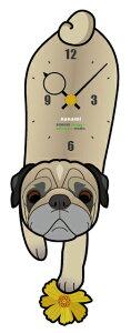 セミオーダーで世界にひとつの愛犬の時計をペット振り子時計【セミオーダーのオリジナル時計ダ...