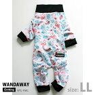 【WANDAWAY】つるつるロンパース・Sサイズ(フラミンゴ)WTL-S-FMG