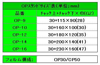 OPスタンドサイズ表