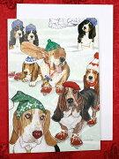 バセットハウンド クリスマスカード バセットグッズ クリスマス