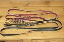 イギリス製 バックスキン・レザーリードMの太さ縫い目のないレザーリード★飼い主さんの手に優しく丈夫!三つ網レザーGSDリード幅1.25c…