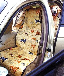 愛犬が濡れたままでも、水分を座席に通しません表地は肌触りのいい綿100%、裏地は防水シート【...