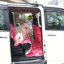ロングタイプの防水カーシートワンボックスカー用 表は綿キルティング 裏防水ペット 犬 車 ラリシー 防水ラリシー後部座席カバーペット防水カーシート