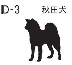 【ポイント20倍】ミラーID【Lサイズ】秋田犬【犬雑貨 日本犬 和犬 迷子札 アクセサリー ネックレス ネームタグ プレート】