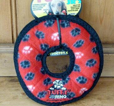 水に浮く頑丈なおもちゃ Tuffy タフィ- レッドリング(ジュニア)おもちゃ 中型犬 大型犬