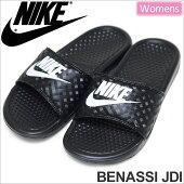 ナイキNIKEウィメンズベナッシJDIサンダル[ブラック/ホワイト](343881011)WMNSBENASSIJUSTDOIT(ジャストドゥイット)レディース(女性用)【靴】_11705F(wannado)