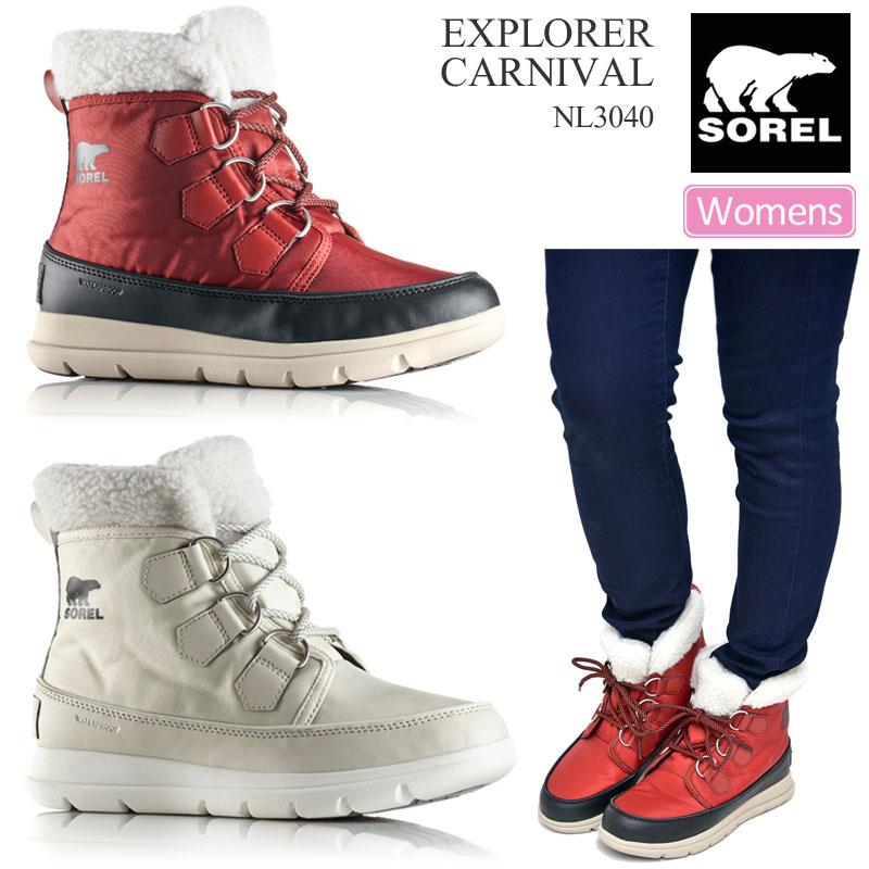 レディース靴, スノーシューズ SALE 40OFF SOREL (2)(NL3040 22.5-26cm)EXPLORER CARNIVAL wbt 1911wannado