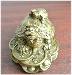 財運UP!銅製の龍亀の置物