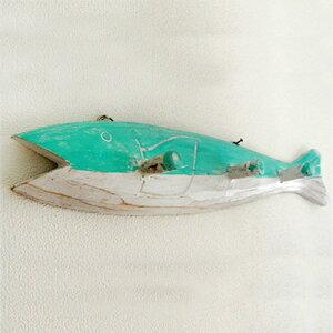 木製お魚の3連フックハンガー
