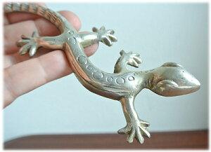 真鍮のトカゲの置物(ホワイト)