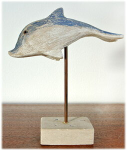 アンティーク風イルカのオブジェ