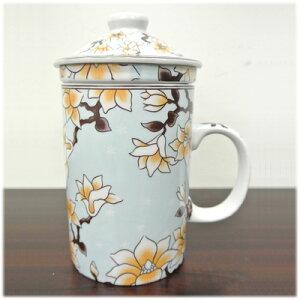 茶漉し付マグカップ[木蓮]