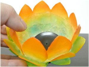 シェルロータスキャンドルホルダー(オレンジ)