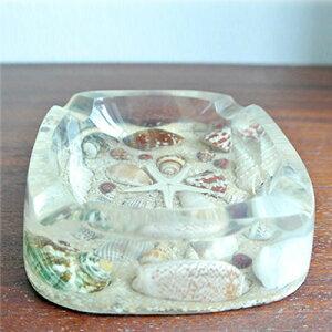 貝殻入り灰皿(ホワイト)