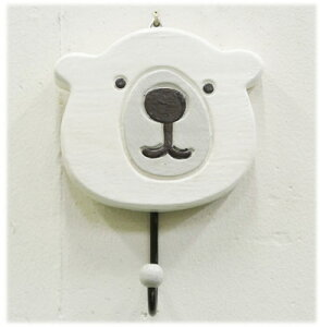 カラー白熊のワンポイントフック