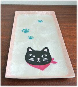 癒しの猫グッズ グッズ ねこ ネコ 置物 ねこ 猫 雑貨 縁起物 猫の置物 キャット カピス貝 お皿 ...