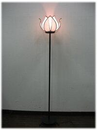 アジアン照明ロータスフラワーランプ(アイアンスタンド・L)