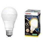 東芝LED電球E-26電球色60W相当(電球色)