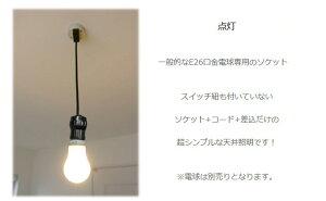 裸電球ランプ黒