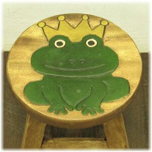 王冠カエルウッドスツール