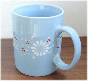 フラワーマグカップ[ブルー]