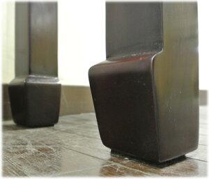 側面格子透かし彫りコンソールテーブル