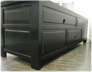 プルメリア彫刻扉と格子扉TVボード