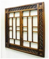 卍透かし彫り入り格子壁掛けパネル