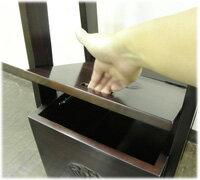 蓮彫刻BOX付きコートハンガーラック