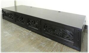 ポリネシアン柄彫刻扉TVボード