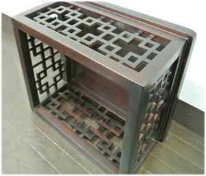 側面格子透かし彫りプリンター台