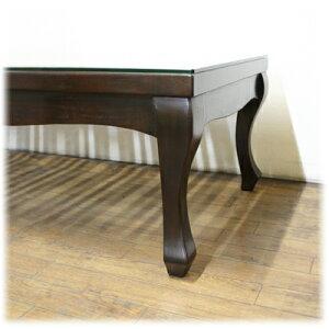 猫脚格子ローテーブル