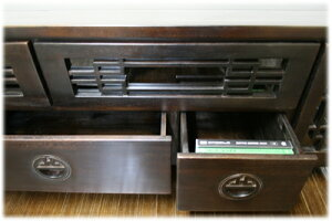 Wiiダブル収納スペース付き格子TVボード