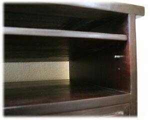 オープンラック付き観音扉TVボード