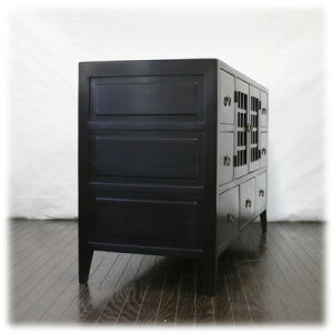 7引き出し縦横格子扉TVボード