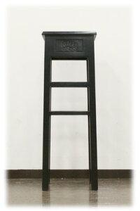 プルメリアの彫刻花台