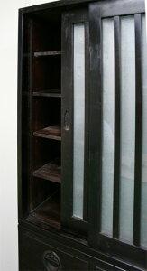 上下段分離型縦格子食器棚