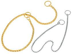 銀色スネークチェーン首輪60 ドッグショー使用シルバー 大型犬用(メール便) 【ラッキーシール対応】