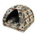 【クーポン有】 Coccole 遠赤綿入ドームベッド ネイティブ 猫用 ペット用 動物用 お試し A100-10