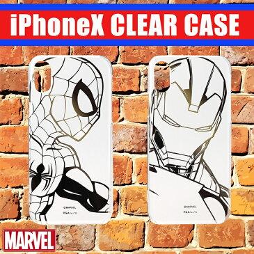 iPhoneX用箔押しクリアケース スパイダーマン アイアンマン iPhoneX ケース アイフォンX アイホン iPhone アイフォン スマホケース iPhoneケース スマホ スマートフォン スマートホン お洒落 おしゃれ オシャレ 人気