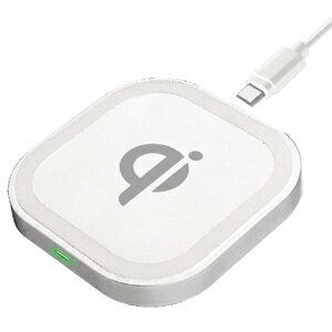 【エントリーでポイント10倍】 AJ-582 ワイヤレス充電器 WH | 車載充電器 車 DC充電器 スマホ 充電 Galaxy Xperia AQUOS ARROW Android 置くだけ充電 卓上 Qi ワイヤレス 充電器